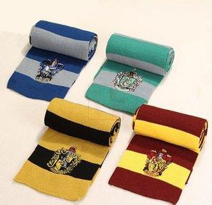 Moda Harry Potter Bufanda Gryffindor / Slytherin / Hufflepuff / Ravenclaw Knitted Neckscarf Disponible Navidad Regalo de cumpleaños de Halloween Cosplay Wear