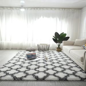 가정 훈장을위한 FBC19011017 새로운 타이 염색 실크 양모 바닥 러그 빨 긴 머리를 바닥 카펫 거실의 고급 카펫