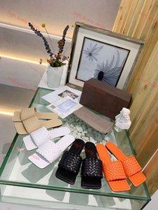 Bottega veneta flip flop Мода дизайн люкса женской обуви дизайн тапочки Плетеных сандалии высококачественные тапочки бренд тканого intrecciato Xshfbcl наппа квартира