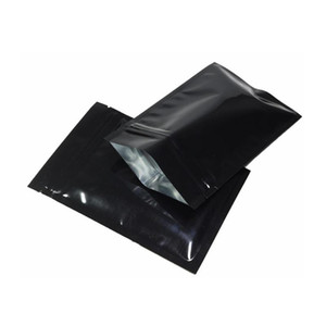 Custom Printed Black Pure Aluminum Foil Zip Lock Self Silver Heat Seal Mylar Bag for Wax Concentrate Free Shipping