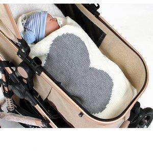 Bébé nouveau-né Swaddle Wrap Couvertures bébé bébé Receiving Blanket coton pour lit de bébé poussette Couvertures couverture tricotée