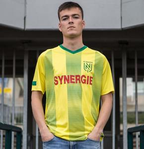 2019 2020 FC Nantes camiseta de fútbol adulta casa camiseta amarilla 19/20 FC Nantes Hombres Coulibaly Waris Rongier Boschilia Camiseta de fútbol
