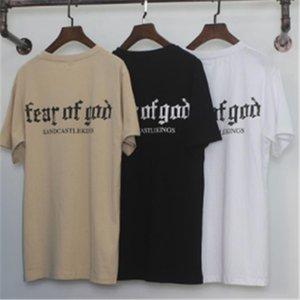 La crainte de Dieu T-shirt Homme Femme Coton FOG Justin Bieber Vêtements Fearofgod t-shirts Nomad Top T-shirts La peur Mode de Dieu T-shirt