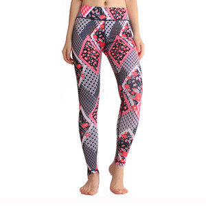 Printed Yoga Cropped Pants Women Sports High Waist Elastic Tight Fast Drying Leisure Training Fitness Yoga Leggings