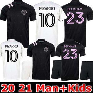 Männer + Kinder nter Miami Socer Jersey 2020 2021 Home Beckham 20 21 Inter Miami CF Football Shirts Trapp Pellegrini Nguyen