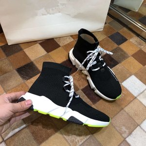 Designer Speed Trainer 2019 Mens Women High Sock Shoes Black Solid Luxury fashion Boots Trainers Runner Walking sneakers