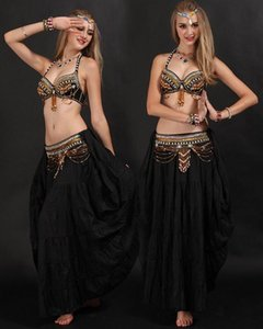 2020 High quality handmade belly dance tribal costume for women belly dancing bra and belt set on sale
