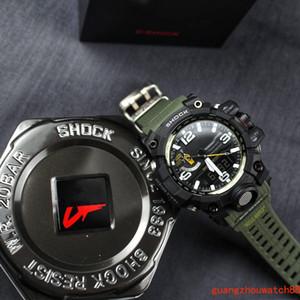 marque Top mens montres de luxe gwg1000 sport militaire montre à quartz étanche choc multi-fonctionnel de résine montre numérique