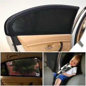 2Pcs Car Sun Visor Rear Side Window Sun Shade Mesh Fabric Visor Shade Cover Shield UV Protector Black Auto Sunshade Curtain