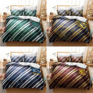 Badge Bedding Set 3D Printing Harry Potter Colorful Classic Duvet Cover Queen Size King Twin Full Double Single Bed Cover with Pillowcase