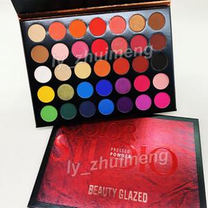 2019 Beauty Glazed Eyeshadow Palette 35 Colors Eye shadow shimmer matte makeup eyeshadow Color Studio palette Brand Cosmetics free DHL