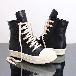 Hot Sale-sual rock Sapatos de couro Wax Canvas Botas Clássico Lace Up High Top Homens Sneakers