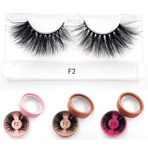 High quality 3D real mink 25mm lashes mink strip custom packaging paper box Extension Eyelash Beauty