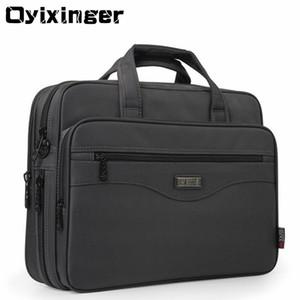 """Oyixinger Männer Aktentasche Laptop Taschen Gute Nylontuch Multifunktions Wasserdichte 15,6 """"Handtaschen Business Schulter Herren Bürotaschen Y19051802"""