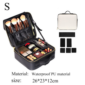 DROPSHIPPING New Women Large Cosmetic Storage Bag High Quality Waterproof PU professional makeup organizer Travel cosmetic case