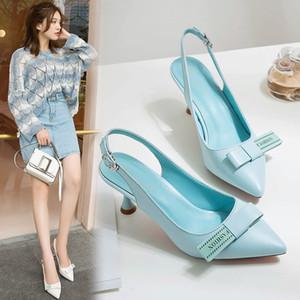 Overseas2019 Sandales De Femme Xia Baida Baotou Fine Low Avec Des Chaussures Sharp Une Boucle