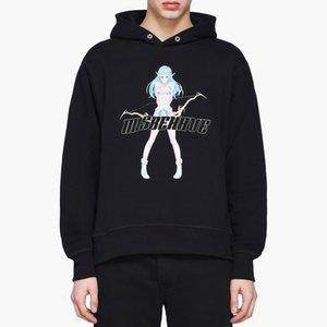 Mens Designer Hoodies MISBHV Shibuya DruckHoodie Anime-Mädchen-Druck Hooded Sweater Fleece High Street Fashion Hoodie