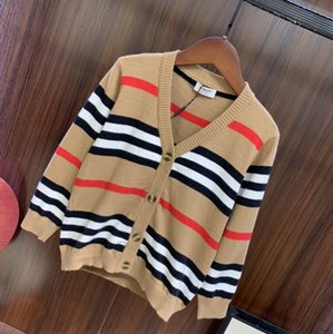 New Boys girls Stripe Knitting Sweaters Autumn Children Clothing cardigan cardigans 031406