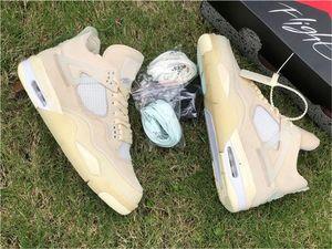 Le plus récent 2020 Off Authentic 4 sortie SP WMNS Hommes Chaussures de basket-Mousseline Blanc Noir Zapatos Voile Bred CV9388-100 extérieur Chaussures de sport avec la boîte
