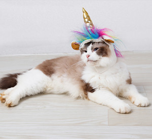 Disfraz de gato selle caliente Disfraz de unicornio lindo para gatito gato, disfraz de gato lindo para decoración de fiesta