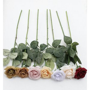 YO CHO 11PCS Real Touch Rose Artificial Flower PU White Peony Pink Wedding Flower Party Decor for Home Decoration Fake Flowers