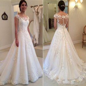 موجز ألف خط أثواب الزفاف زفاف متعدد الطبقات لينة تول رخيصة عارية الذراعين زائد الحجم الأبيض العاج فستان الزفاف