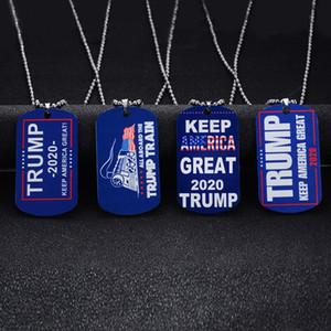 Дональд Трамп ожерелье Америки Великий Подвесок 4 Стилей из нержавеющей стали Пара Ожерелья Мужчина ювелирных изделий женщин свитера цепь подарок TA-TA1870