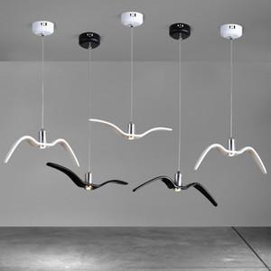 Bird Seagull pendant lamp for Kitchen Dining room Bedroom seagull lighting Resin Kids room Spotlight Chandelier