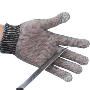 Gants haute performance acier inoxydable de qualité 5 fil en acier, plus anneau PE gants de fer unique de preuve Cut sécurité