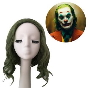 Fábrica atacado europeu e americano-estilo wig womens filme palhaço joker forrec mixed verde cospaly wig