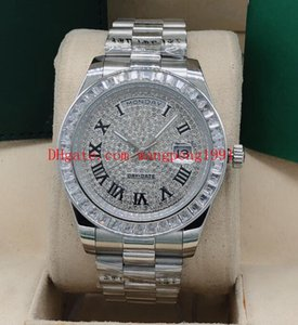 8 color high-quality watch 41mm Rome full diamond inlaid dial square diamond inlay bezel Stainless Steel automatic mechanical watch watches