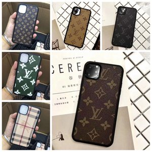 New Designer Marque Imprimer Fleur Téléphone pour iPhone 11 Pro Max X Xs Max Xr 8 7 6 6s Plus cuir style Shell peau Couverture A08