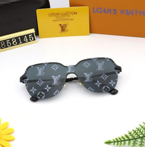 BrandSun نظارات بينة نظارات شمس مصمم نظارات شمسية رجل إمرأة ملمع الأسود لويس فويتون النظارات الشمسية مع القضية مربع