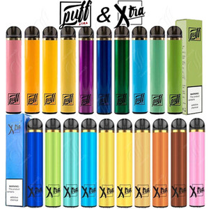 퍼프 엑스트라 XTRA 일회용 Vape 펜 카트리지 카트 포드 스타터 키트 기화기 전자 담배 시스템 증기 5.0 ㎖ 사전 작성 1500puffs 최신