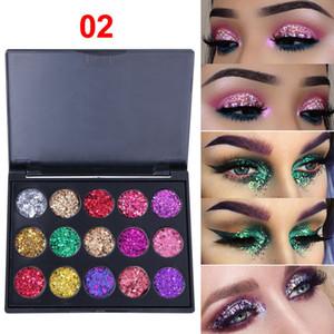 CmaaDu 15 couleurs Glitter Ombre à Paupières Diamant brillant Paillettes Palette d'ombres à paupières Branded yeux brillants de haute qualité Maquillage Palettes