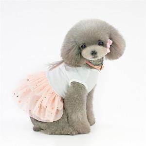 Robe d'anniversaire pour chien lapin tutu pour animaux de compagnie Robe en coton princesse de luxe dentelle rose petit chien Robe