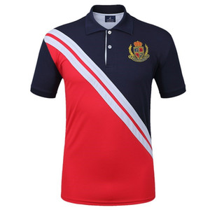 Mens Plus La Taille Marque Polo Shirt À Manches Courtes Fitness Running Sports De Plein Air Jogging Entraînement Tops Tennis T Shirts Golf Vêtements Tops