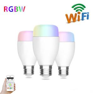 6W E27 240V WIFI Soporte de bombilla LED Echo Alexa Lámpara de voz Inalámbrica Domótica Lámpara musical regulable RGB Colores