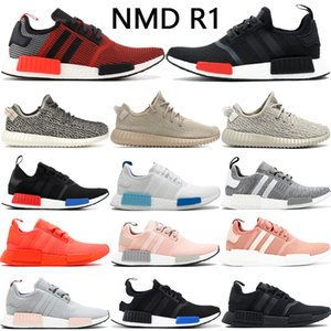kanye west v1 X NMD R1 chaussures de course classique hommes turtle luxuriante colombe triple rouge blanc noir hommes trainer baskets femmes avec la boîte