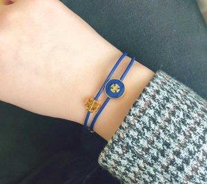 Nuovo braccialetto arrivo fascino con letto in pelle di colore dello smalto arancio verde blu gioielli estate fiammifero nero PS8211 trasporto libero