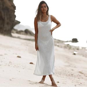 di ITFABS Marca donna Abito da spiaggia di estate occultamento del costume da bagno vestiti Crochet scava fuori sexy See-through Coprire Abiti