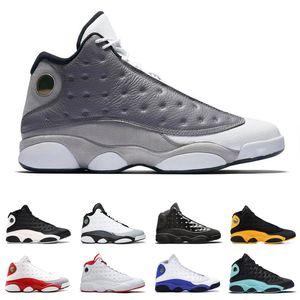 Flint 13 13s chaussures de basket-ball pour homme Playground gris Toe inversée He Got Dirty Game Bred Mens Sport Sneaker Chaussures Baskets 36-47