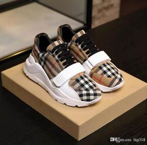 HOT mode marque show chaussures vintage couple chaussures de sport de contrôle rétro chaussures de marque de luxe conception velcro plate-forme gaufrés avec boîte