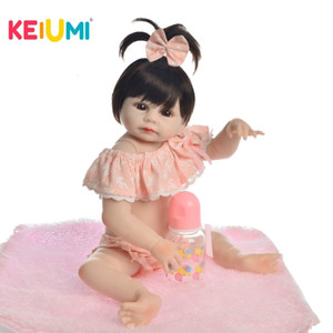 KEIUMI прекрасный ребенок возрождается девочка куклы полный тело реалистичные силиконовые кукол новорожденных младенцев Принцесса Бебе купать игрушки подарок на день рождения MX191030