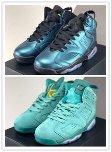 Con BOX 2020 New Blue 6s verde chiaro dimensioni VI uomini scarpe da basket all'aperto allenatori sportivi scarpe da ginnastica di moda di buona qualità 40-47