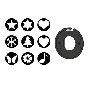 Lens Accessory Bokeh Effect Kit & Protective Cover Cap 52mm For Canon