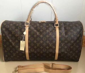 55 см большой емкости женщины дорожные сумки известный классический дизайнер продажа высокое качество мужчины плечо вещевой мешок ручной клади