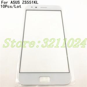 10 Pz / lotto Originale 100% Per Asus Zenfone 4 Pro ZS551KL Front Glass Lens Touch Screen LCD Parte esterna del Pannello di Ricambio