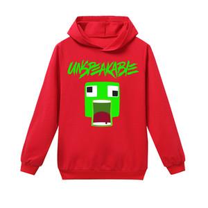 2020 neue Kinder Unspeakable Youtube Fashion Hoodies Sweatshirts für Teen Kinder Jungen mit Kapuze Tops 6-14 Jahre Cotton Sweatshirts Bekleidung Tops