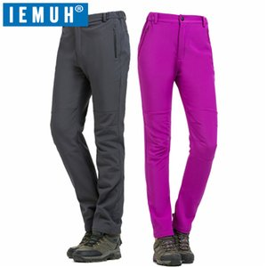 IEMUH Brand Winter Women Hiking Pants Outdoor Softshell Trousers Waterproof Windproof Thermal for Camping Ski Climbing Pants